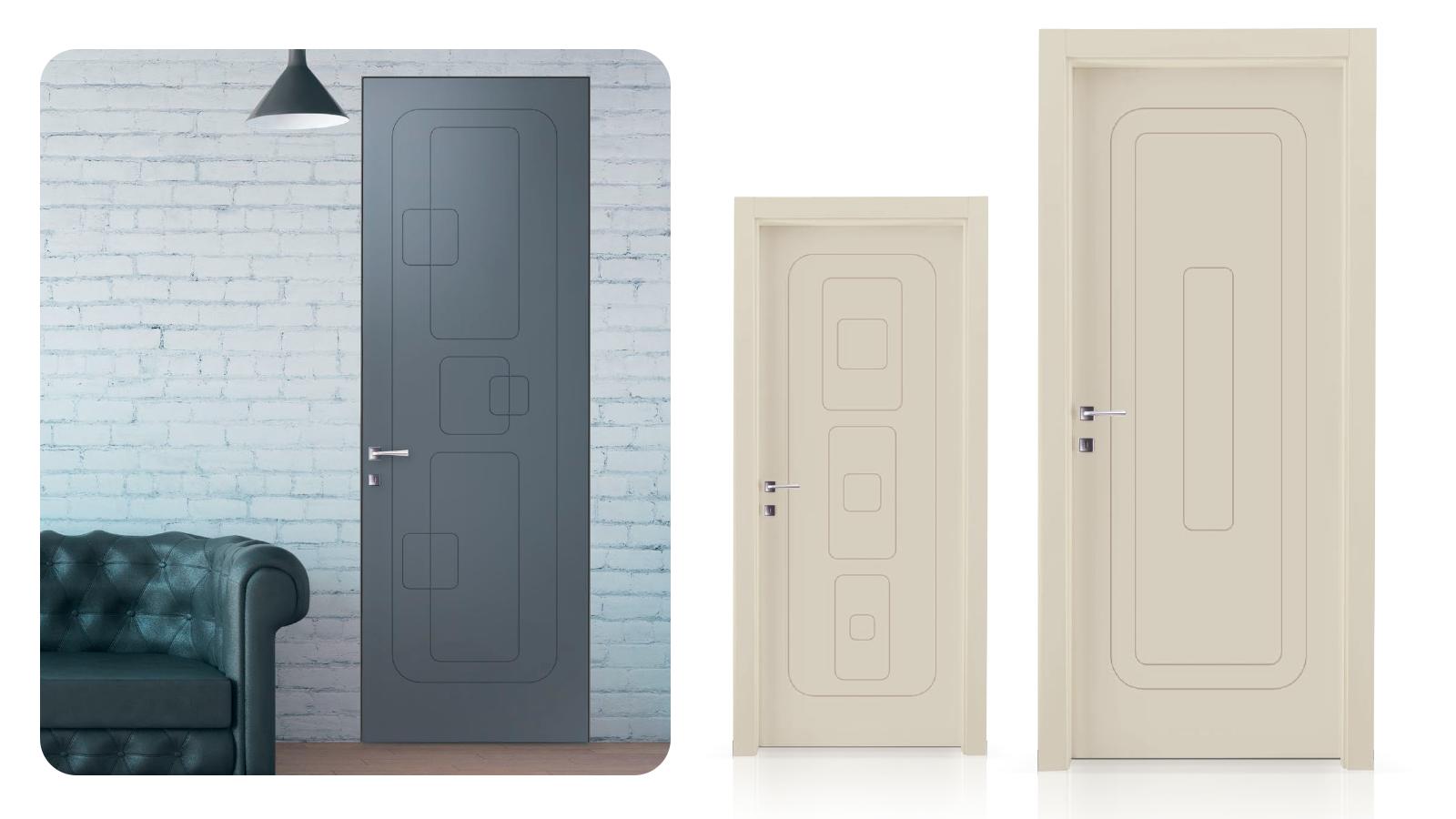 Lacado inciso sobre puerta de madera prefabricada