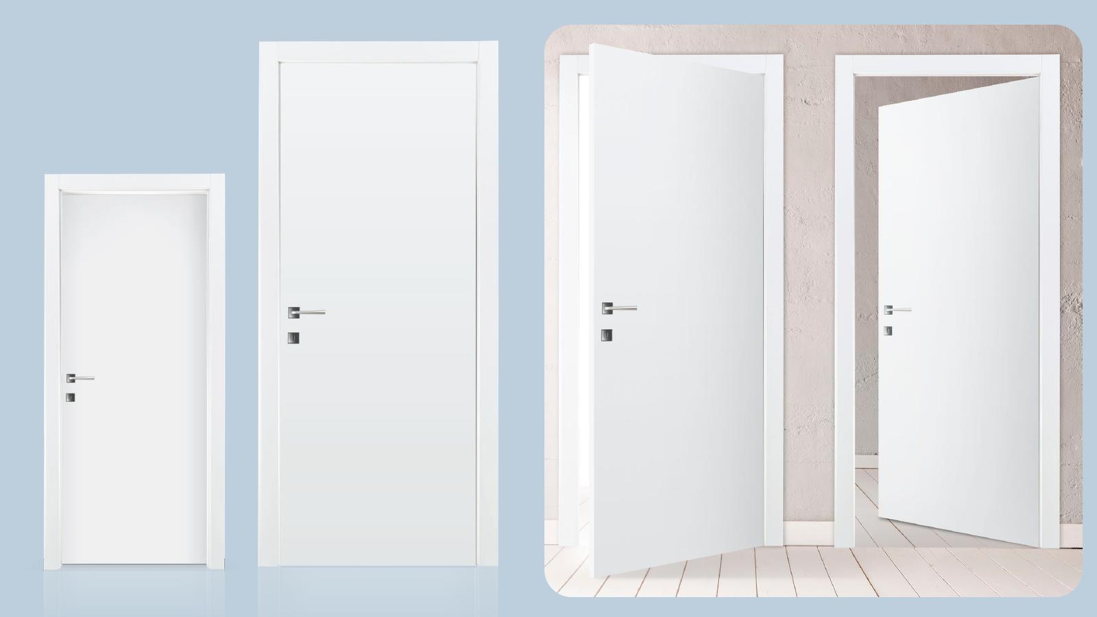 Lacado liso en puerta de madera prefabricada