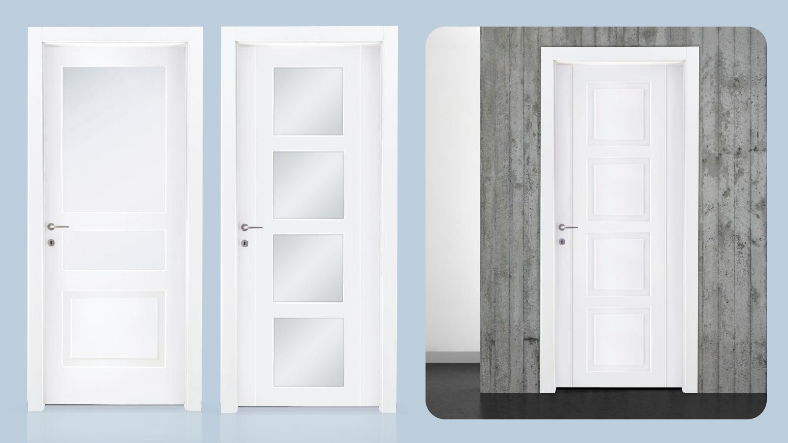 Pantografiado sobre puerta de madera prefabricada