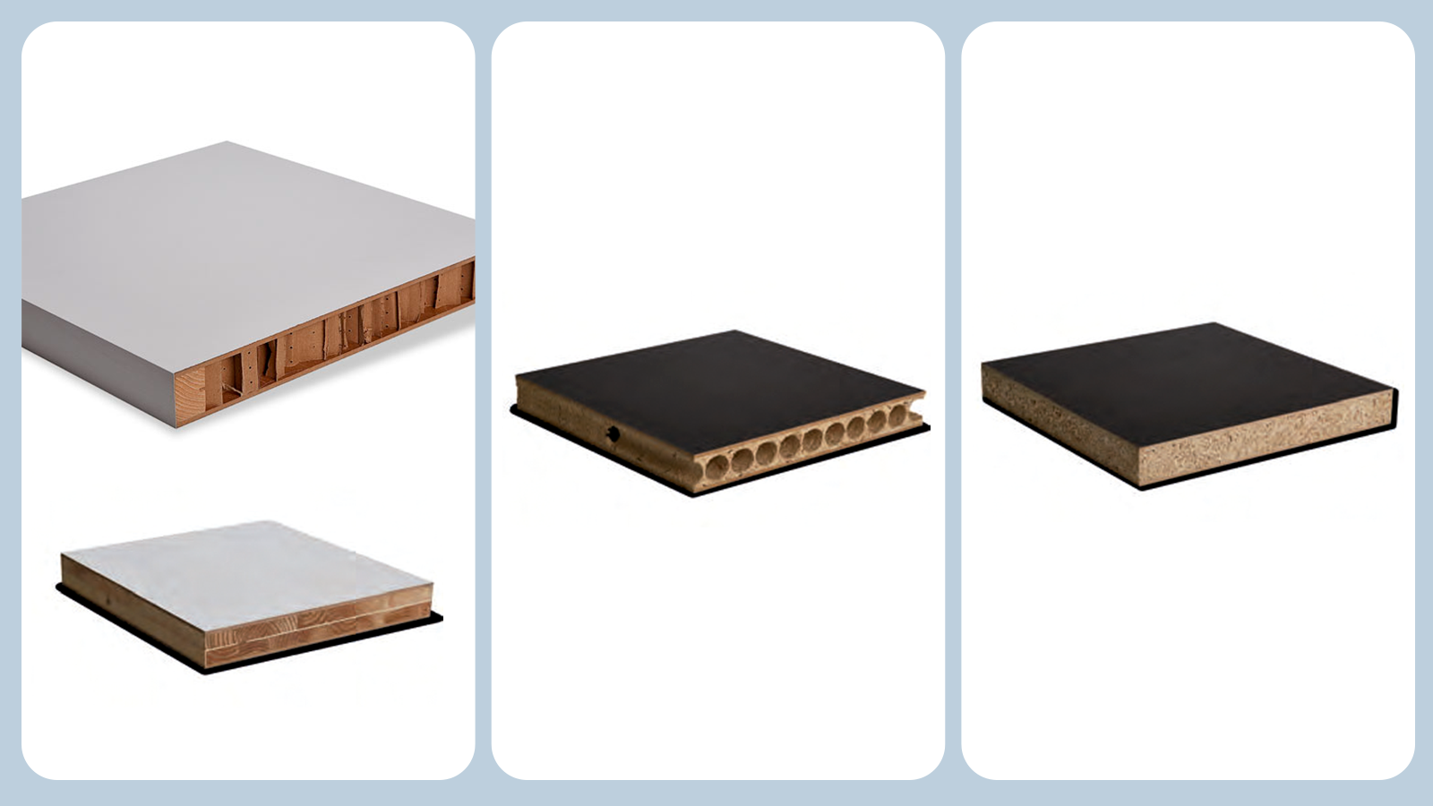 Tipos de rellenos de puertas prefabricadas para interiores
