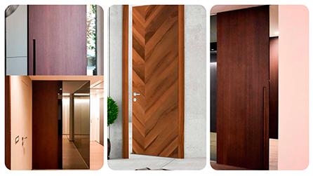 Elementos de puertas de madera prefabricada para interiores